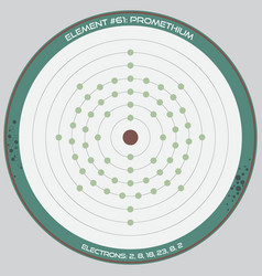 detailed infographic promethium vector image