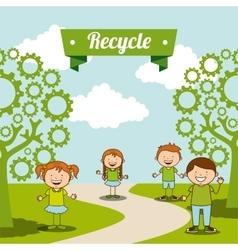 Ecological kids vector