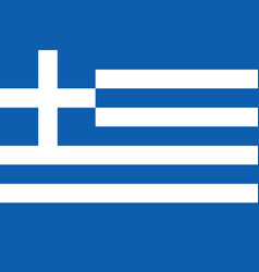 flag of greece in official rate and colors vector image