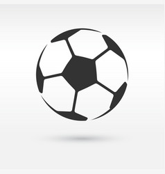 Football or soccer ball icon vector