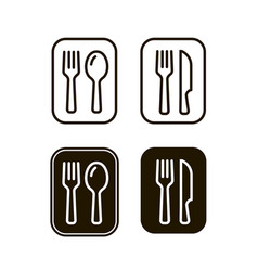 fork and spoon sign restaurant or cafe vector image
