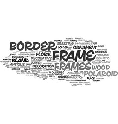 frame word cloud concept vector image