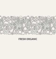 fresh organic banner concept vector image
