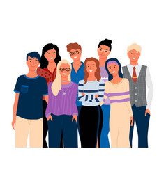 friends or relatives smiling man and woman vector image