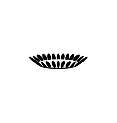 gas burner icon design black on white vector image
