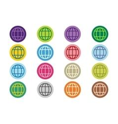 Globe Earth logo icon set vector image