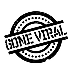Gone Viral rubber stamp vector image
