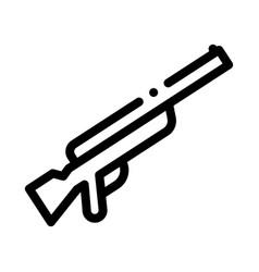 Gun icon outline vector
