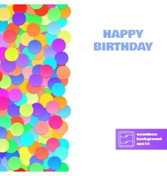 Happy Birthday Confetti Seamless Pattern vector image