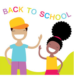 Happy kids back to school vector