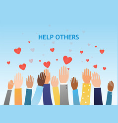 Help others concept with a group diverse people vector