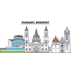 Hungary budapest city skyline architecture vector