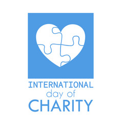International charity day vector