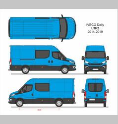 Iveco daily combi delivery van l3h2 2014-2019 vector