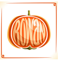 Logo for rowan vector