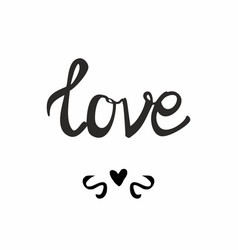 Love sign isolated on white background vector