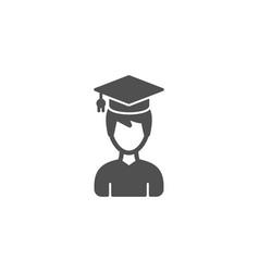 man in graduation cap simple icon education vector image