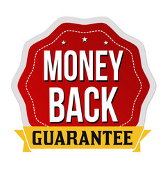 money back label or sticker vector image