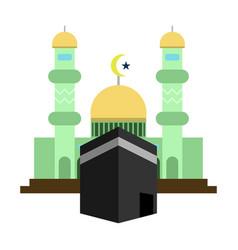 Mosque kaaba islamic design vector