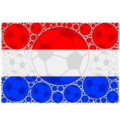 Netherlands soccer balls vector
