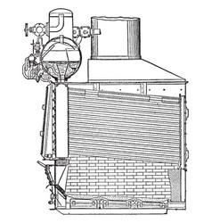 Niclausse boiler vintage vector