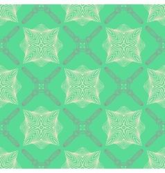 pattern in emerald green delicate elegant lines vector image
