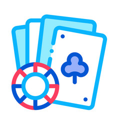 playing cards icon outline vector image