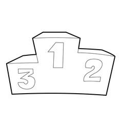 Podium icon outline style vector