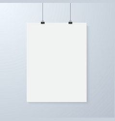 Poster Mockup Realistic EPS10 Paper vector image