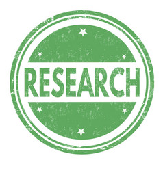 Research sign or stamp vector