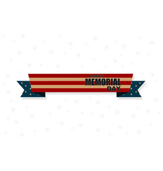ribbon memorial day poster or banner stars vector image