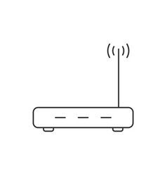Router linear icon on white background wireless vector