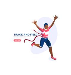 Running athlete runner vector
