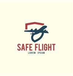 safe flight logo template vector image