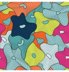Seamless geometric pattern in the boho style Boho vector image