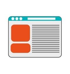 Single webpage icon vector