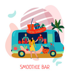 smoothies bar concept vector image