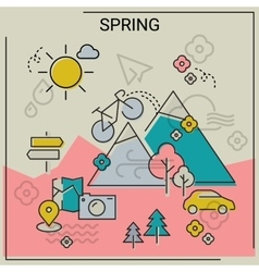Spring line banners vector image