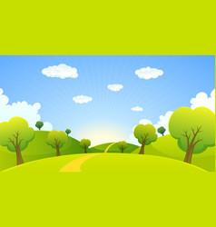 spring or summer cartoon landscape vector image