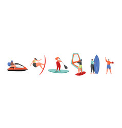 summer water sports flat isolated vector image