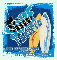 surfing board vector image