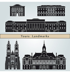 Tours landmarks and monuments vector image