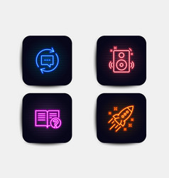 Update comments speakers and help icons startup vector