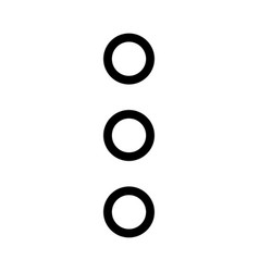 Vertical ellipsis menu with three dots expansion vector