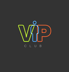 Vip club invitation template vector
