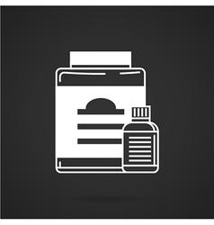 White contour plastic jars icon vector image