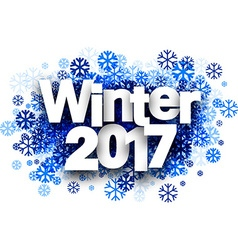 Winter 2017 background with snowflakes vector image