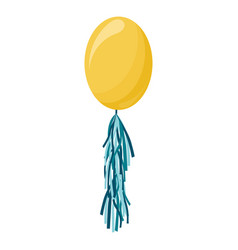 Yellow transparent balloon on background frosted vector