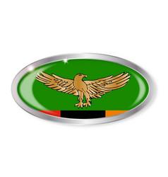 Zambia flag oval button vector