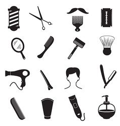 Barber Tools and Men Hairstyle Equipments vector image vector image